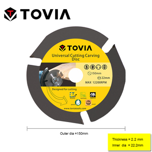 Image 2 - TOVIA 150mm Circular Saw Blade Multitool Grinder Saw Disc Carbide Tipped Wood Cutting Disc Wood Cutting Power Tool Accessories