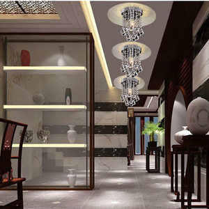 Image 5 - New Round LED Crystal Ceiling Light For Living Room Indoor Lamp luminaria home decoration
