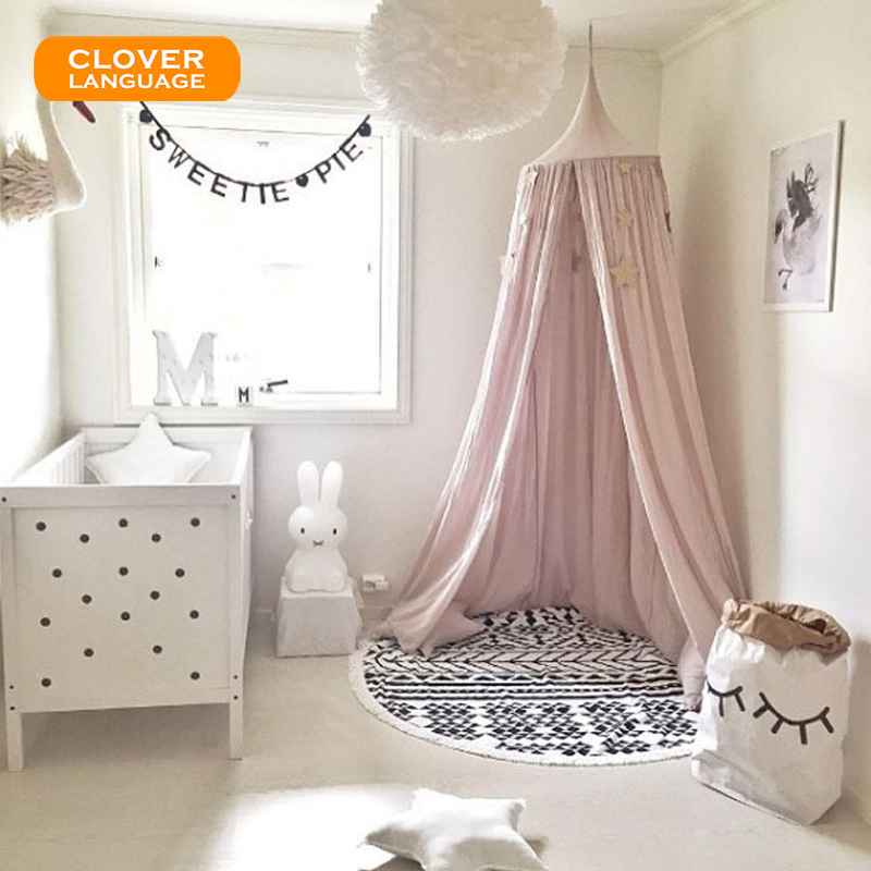 Europe and The United States Single-door Baby Dome Hanging Mosquito Nets Bed Tent Sofa for Kid Bedroom Decor