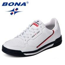 BONA Fashion Men Flats Shoes Autumn Breathable Men's Casual Shoes Trend Lightweight Leisure Shoes Comfortable Sneakers Shoes