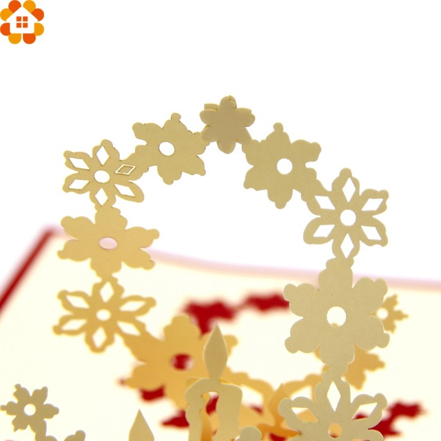 Online Shop 1pc 3d Cherry Blossoms Happy Birthday Cards Laser Cut