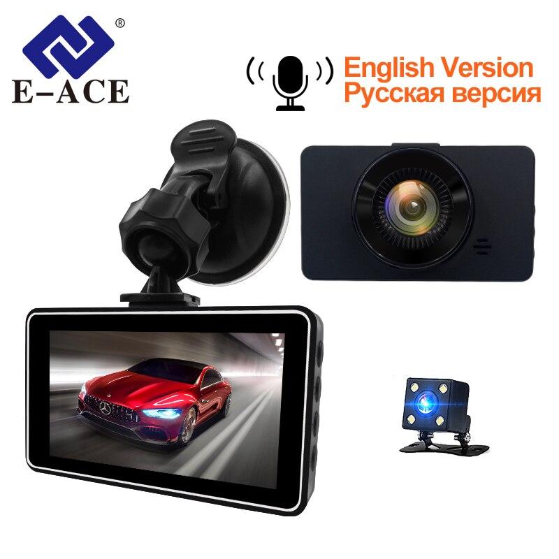E-ACE Mini Dash Camara Video Recorder Car Dvr Voice Contro Full HD 1080P 3.0 Inch Dashcam Auto Registrator Nigh Vision Dual Lens велосипед cannondale contro e speed 2 2016