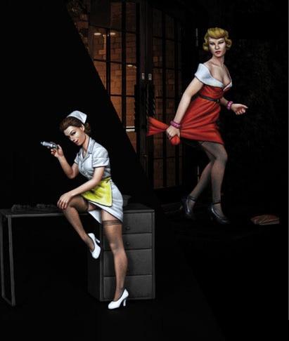 Scale Models 1/ 35  Woman Nurses And Gentlewomen  Figure Historical  Resin Model