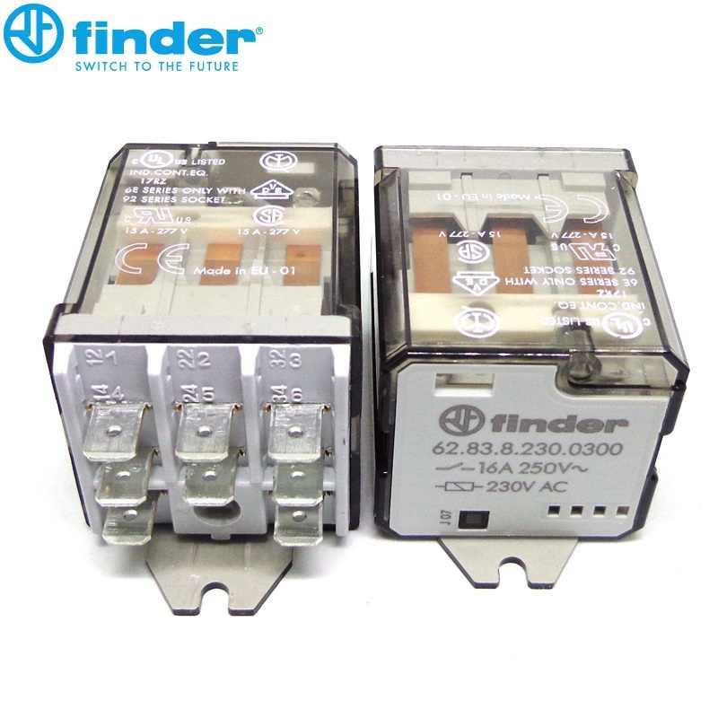 Elektromagnetisch 3PDT Uspule 230VAC 16A//250VAC 62.83.8.230.0000 Elect Relay