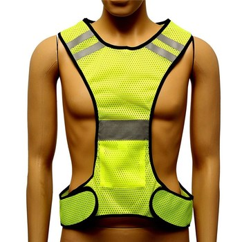Fluorescent yellow high visibility reflective vest security equipment night work new arrival high quality.jpg 350x350