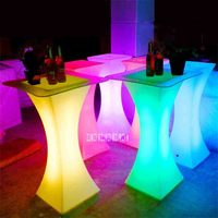 XC 018 European LED Light Bar Table Rechargeable Led Illuminated Table Waterproof Lighted Up Coffee Table Bar kTV Party Supply