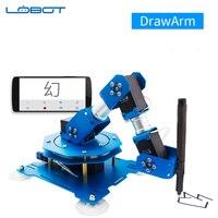 Промышленный робот Servo Arm DrawArm письмо и Рисование Написание приложение Bluetooth дистанционное управление RC запчасти робот