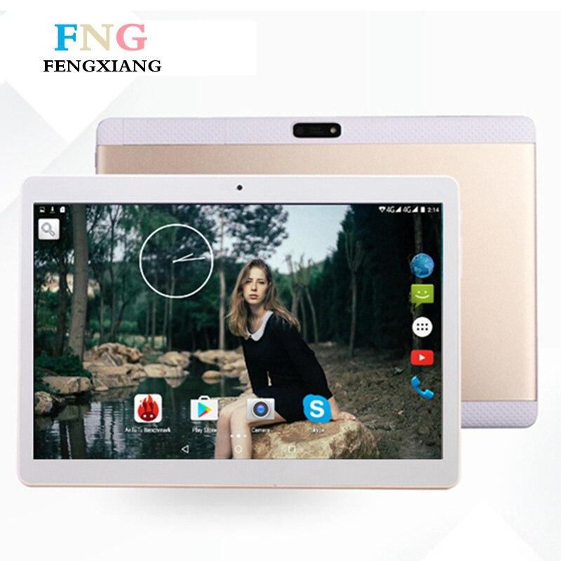 10.1 inch Quad Core 2018 Android 7.0 Tablet Pc 4GB RAM 64GB ROM IPS Dual SIM card Phone Call Tab Phone pc tablet Tablets+Gifts 10 inch tablet pc quad core tablet android 5 1 tablet pc ips 2g ram 32gb rom wifi 3g phone call dual sim card