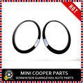 Новый ABS Пластик MINI COOPER F56 F55 Черный Цвет Задние Фонари + Фары Диски Окружает Обложки (4 Шт./компл.)