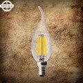 LightInBoxE14 Vela Bombilla de Edison Retro Iluminación de la Lámpara De Tungsteno 220 V 3 W 4 W 8 W 12 W LED de filamentos