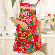 Fashion Color printing cotton waterproof apron free shipping