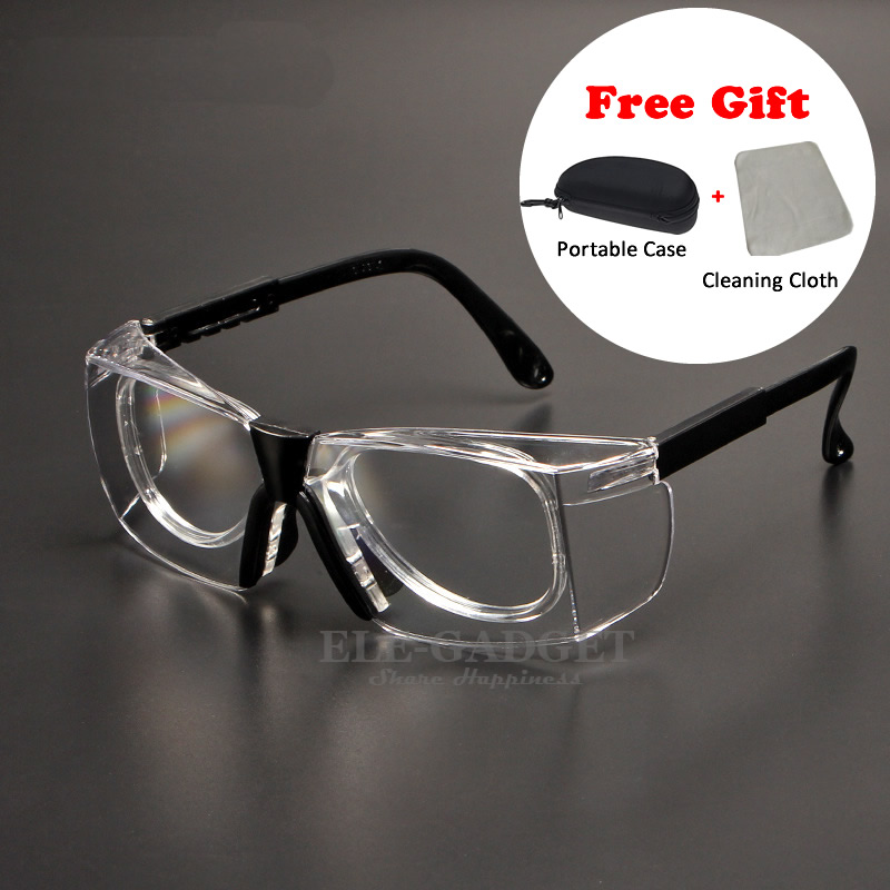 Work Safety Goggles Anti-Splash Wind Dust Proof Protective Glasses Optical Lens Frame For Research Cycling Eyes Protector