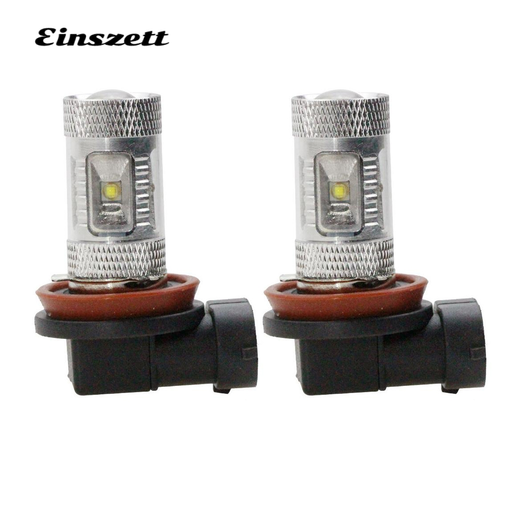 2pcs H8 Auto LED Fog Light High Power White 12V 6SMD 30W LED HeadLight Bulb Replacement