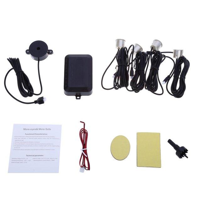 LED Display 4 Sensors Parking Kit Car Auto Reverse Rear Assistance Backup Park Radar Buzzer Alarm Kit Monitor System