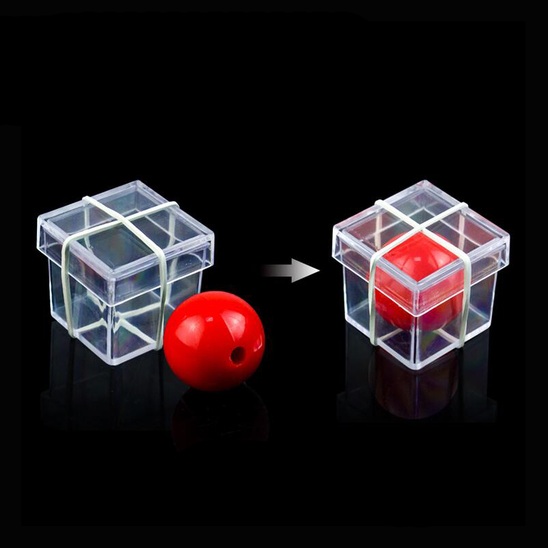 Funny Clear Ball Through Box Magic Tricks Props  Illusion Magic Magician Game  For Magicians Magic Toys