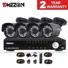 Tmezon 4ch ahd dvr 4 unids 2.0mp 1080 p de la cámara de vigilancia de seguridad Sistema de CIRCUITO CERRADO de televisión Al Aire Libre Impermeable de Visión Nocturna Por INFRARROJOS 1 TB 2 TB HD Kit