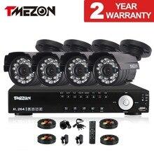 Tmezon 4CH AHD DVR 4 pcs 2.0MP 1080 P Caméra de Sécurité de Surveillance Système CCTV Extérieur Étanche IR Night Vision 1 TB 2 TB HD Kit