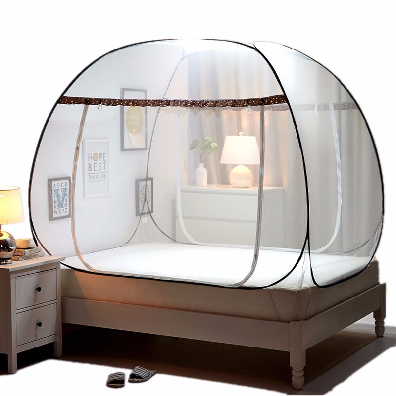 Large Mosquito Net Bed Screen Insect Canopy Folding Rectangl Camping 7-8 Person