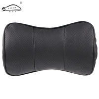 1pcs Top Layer Leather Car Headrest Upscale Auto Supplies Neck Safety Pillow Car Neck Support Pillow