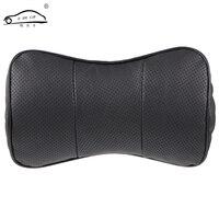 1pcs Top Layer Leather Car Headrest Upscale Auto Supplies Neck Safety Pillow Car Neck Support Pillow