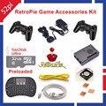 Raspberry Pi 3 Modelo B 32 GB RetroPie Kit De Acessórios Do Jogo Controladores Gamepad Sem Fio Joystick Joypad