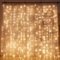 Warm White 6 3M 600LED Christmas Garland LED Fairy String Christmas Lights Party Wedding Decoration Curtain