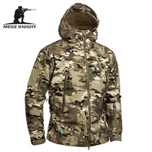 Mege Marke Camouflage Military Männer Kapuzenjacke, haifischhaut Softshell Us-armee Taktische Mantel, Multicamo, Woodland, A-TACS, AT-FG