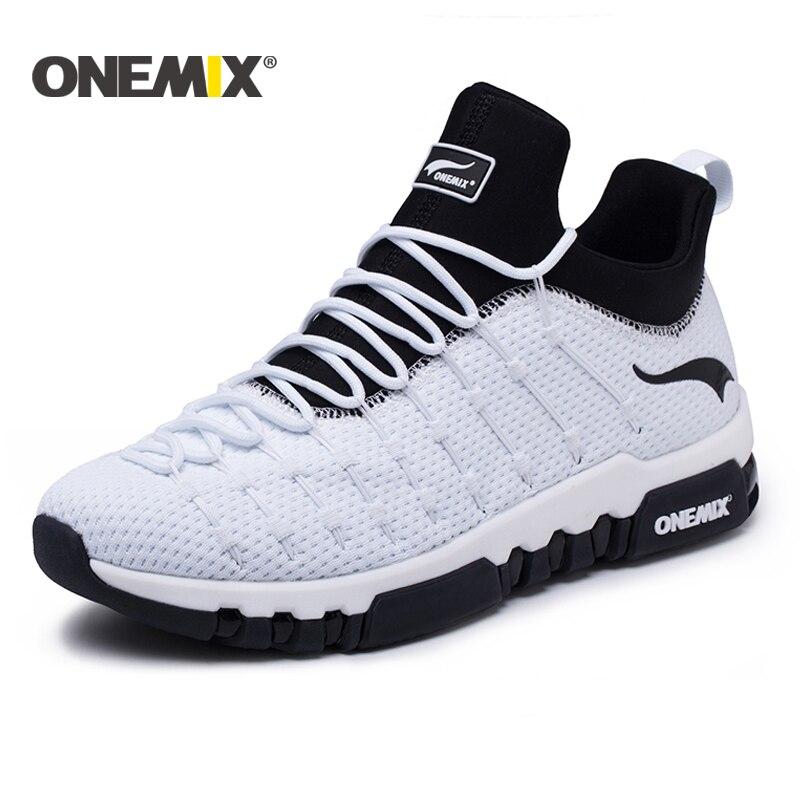 Onemix 2018 chaussures de course pour hommes hight sneakers en plein air trekking femmes respirant espadrilles de course à pied Livraison gratuite
