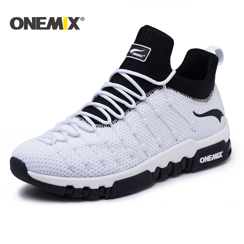 Onemix 2018 running shoes for men hight sneakers outdoor trekking women breathable sneakers walking running shoes Free shipping onemix new running shoes men outdoor walking boots couple high top sneakers multifunction trekking sneaker women free shipping