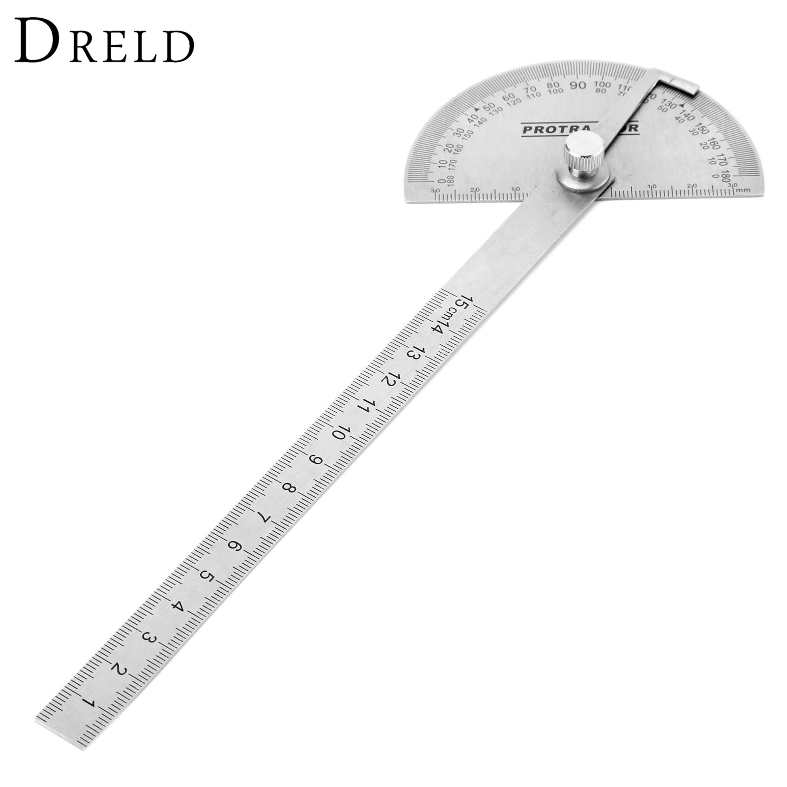 Rotary Measuring 180 Degree Tool Stainless Steel Protractor Ruler Angle Finder