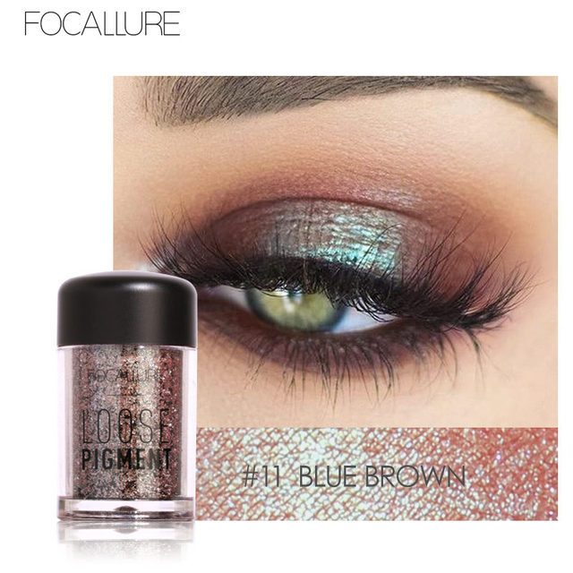 Focallure18 Colors Glitter Eye Shadow Loose Powder Shimmer Pigment Eyeshadow Sparkly Shadows Single Eyeshadow Pallete Makeup