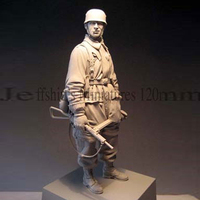 1/16 Resin Figure Bust Model Second World War Paratroopers Military War Soldier 158