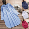 Plus Size 5XL Womens Tops and Blouses 2018 Harajuku Linen Vintage Long Sleeve Long Shirts Tunic Ladies Top Woman Clothes  4