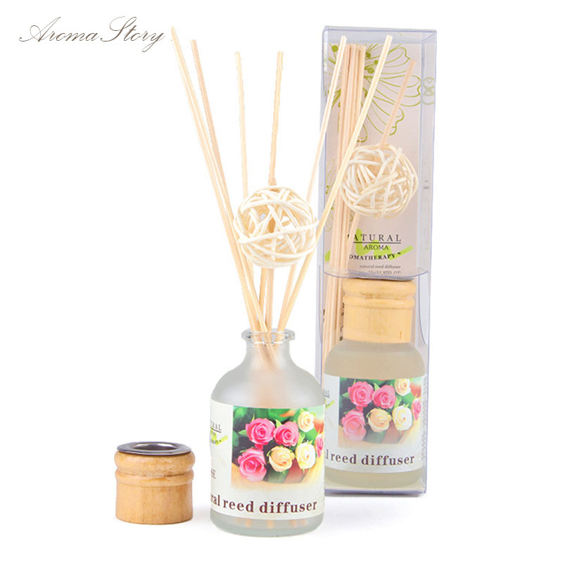3pcs/lot 50ml Home Fragrance Diffusers 24Scents with Rattan Sticks, Rattan Ball and Wooden Cap Free Shipping