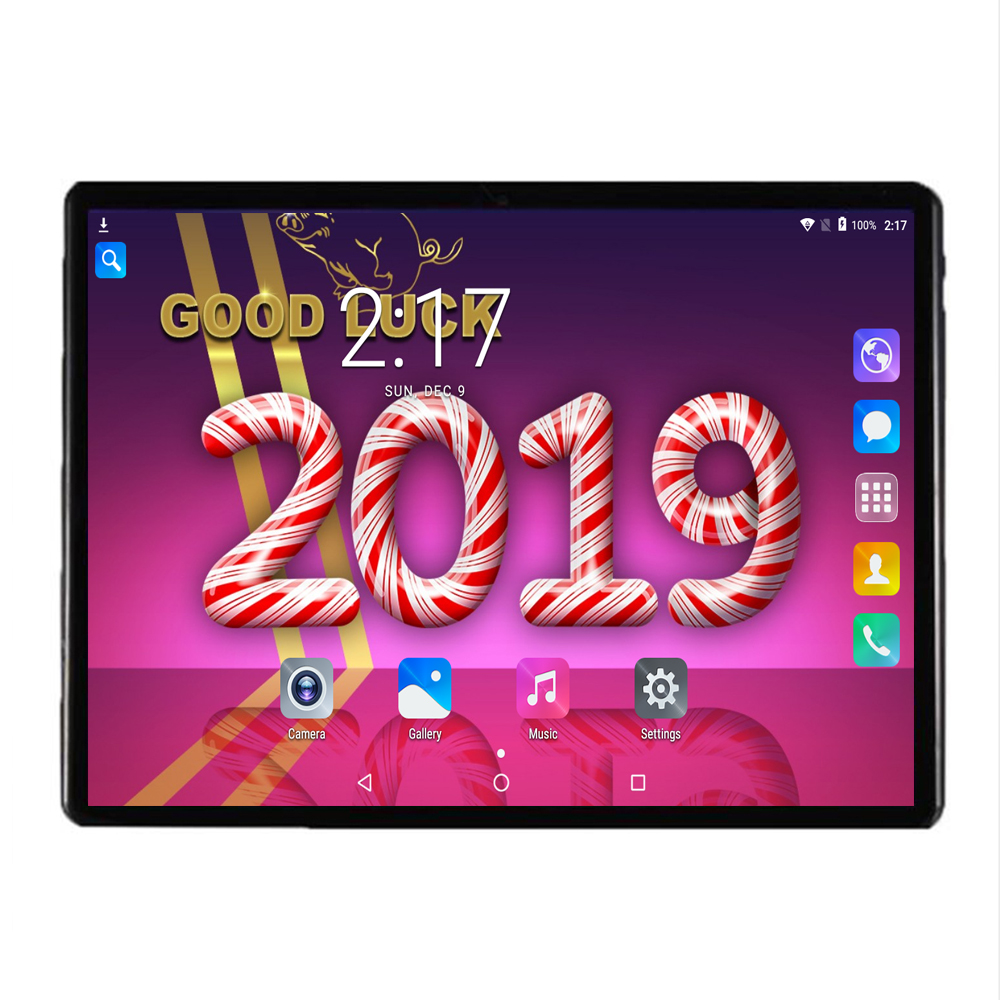 Super Tempered 2.5D Glass 10 inch tablet pc Octa Core 4GB RAM 32GB ROM Adroid 7.0 1280X800 IPS Screen Wifi Kid Tablet 10.1 +Gift