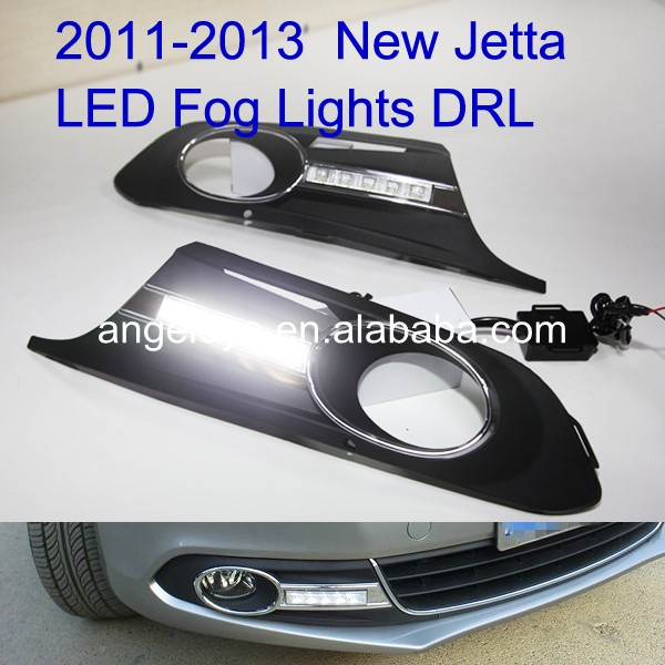 2011-2013 Year New Jetta MK6 LED Daytime Running Light For Fog Lamp V2 2009 2011 year golf 6 led daytime running light