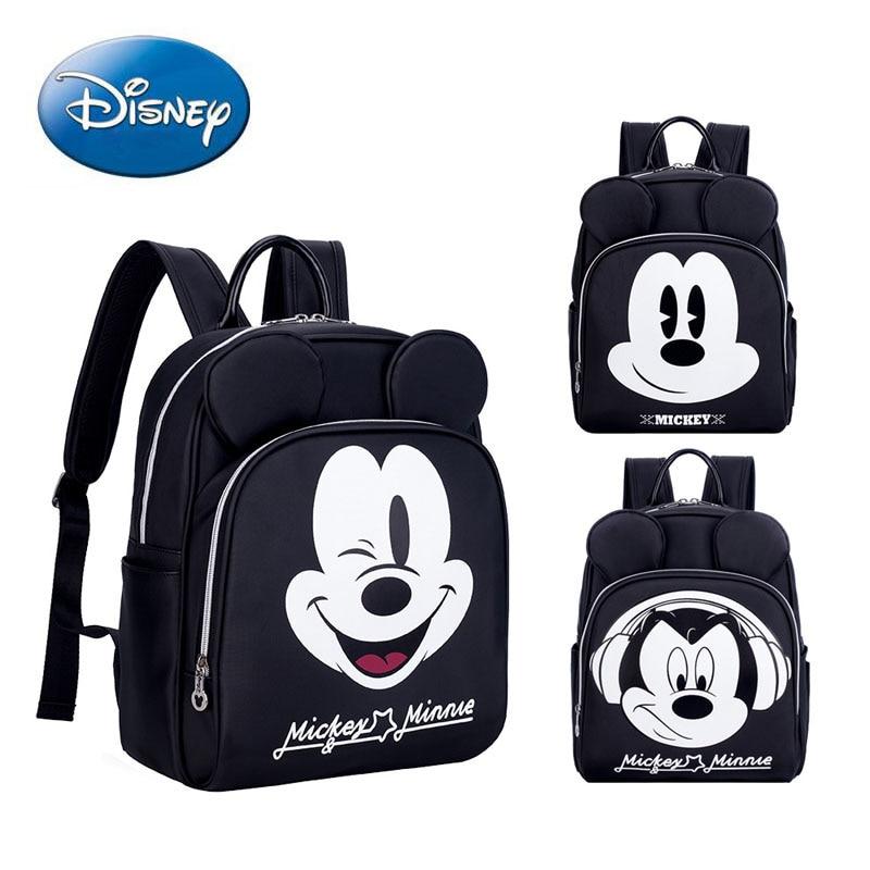 Sac à couches Disney grande capacité sac à dos à couches étanche bébé soin maman sac à dos de voyage dessin animé Mickey bébé sacs d'allaitement