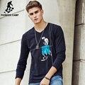 Pioneer camp 2017 manga larga camisetas hombre carácter impreso t shirt men casual brand clothing alta calidad camiseta masculina 677106