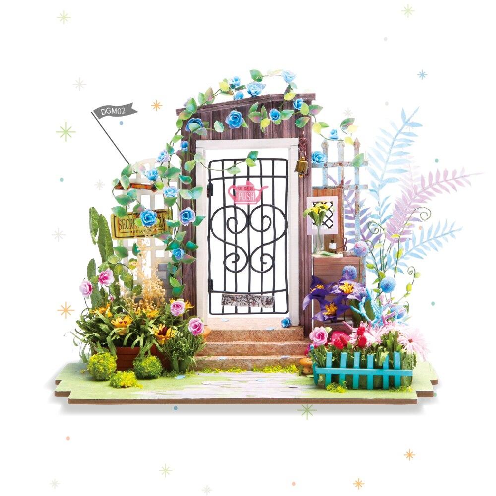 Robotime 3D Wooden Puzzle DIY Handmade Miniature Mini Dollhouse Building Model Home Decoration ...