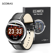 SCOMAS N58 ECG PPG Smart Watch 1.22IPS With Electrocardiograph Display Heart Rate Blood Pressure Monitor Smartwatch