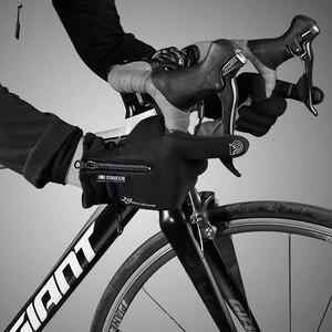 Image 5 - ROCKBROS gants de cyclisme pour hommes et femmes, à écran tactile, thermique, antidérapant, chaud, complet des doigts, pour lhiver