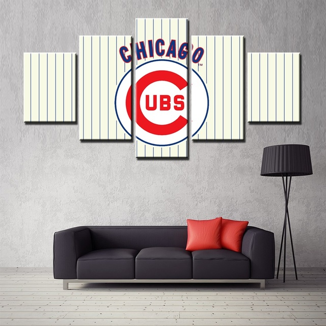 Classical Logo Baseball Sport Team White Picture Print Canvas