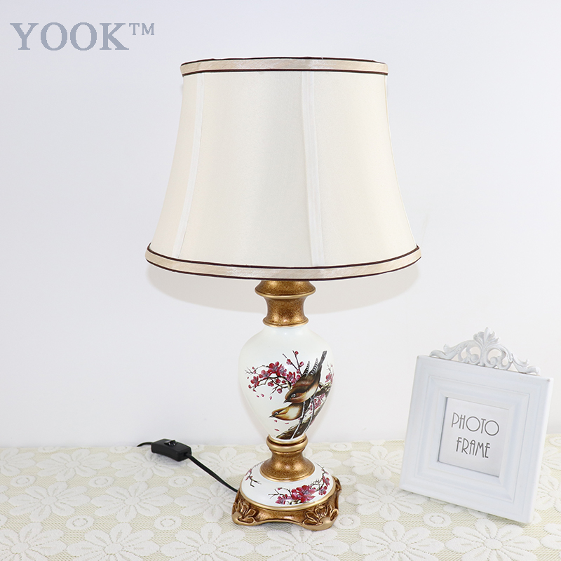 YOOK Vintage Table Lamps For Bedroom LED Table Lamps For Living Room E27 Bulb 220v Hand Painting Resin Table LampYOOK Vintage Table Lamps For Bedroom LED Table Lamps For Living Room E27 Bulb 220v Hand Painting Resin Table Lamp