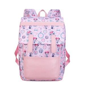 Moda śliczne różowe Minnie Mouse torba dla mamy cartoon Disney Mickey Mouse plecak wielofunkcyjna kobieta modna torebka może korzystać z koszyka