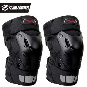 Image 1 - オートバイ膝パッドガードキュイラッシェ肘レースオフロード保護ニーパッドモトクロスブレースプロテクターバイク保護