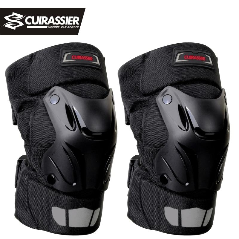 Motorcycle Knee Pads Guards Cuirassier K01 MX Racing Off-Road Protective Kneepad Motocross Brace Protector Motorbike Protection