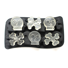 Nicole creative skull ice mold ice lattice ice lattice ice box ice mold ice cube DIY manual цена