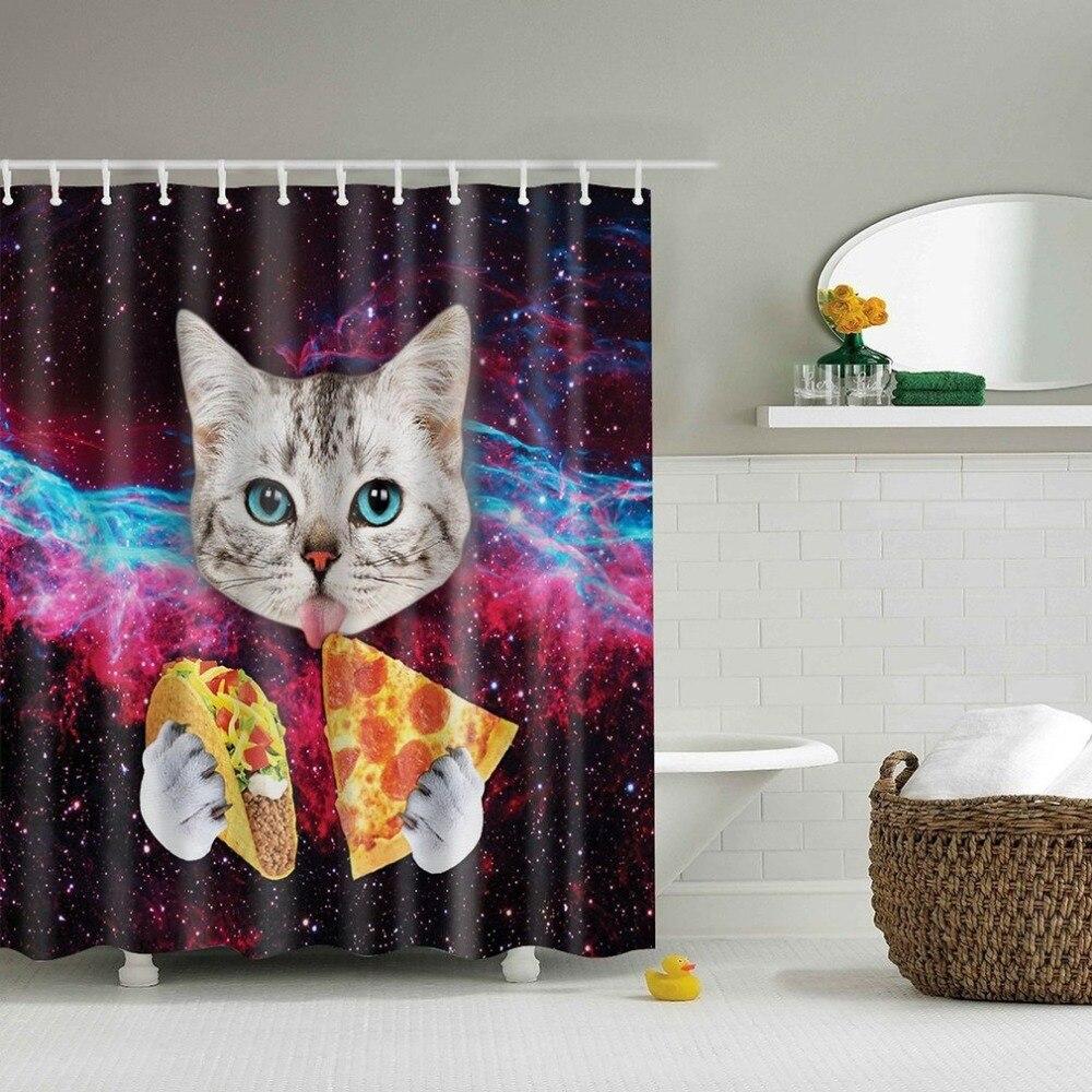 Cartoon 180x180cm Waterproof Shower Curtain Octopus Home