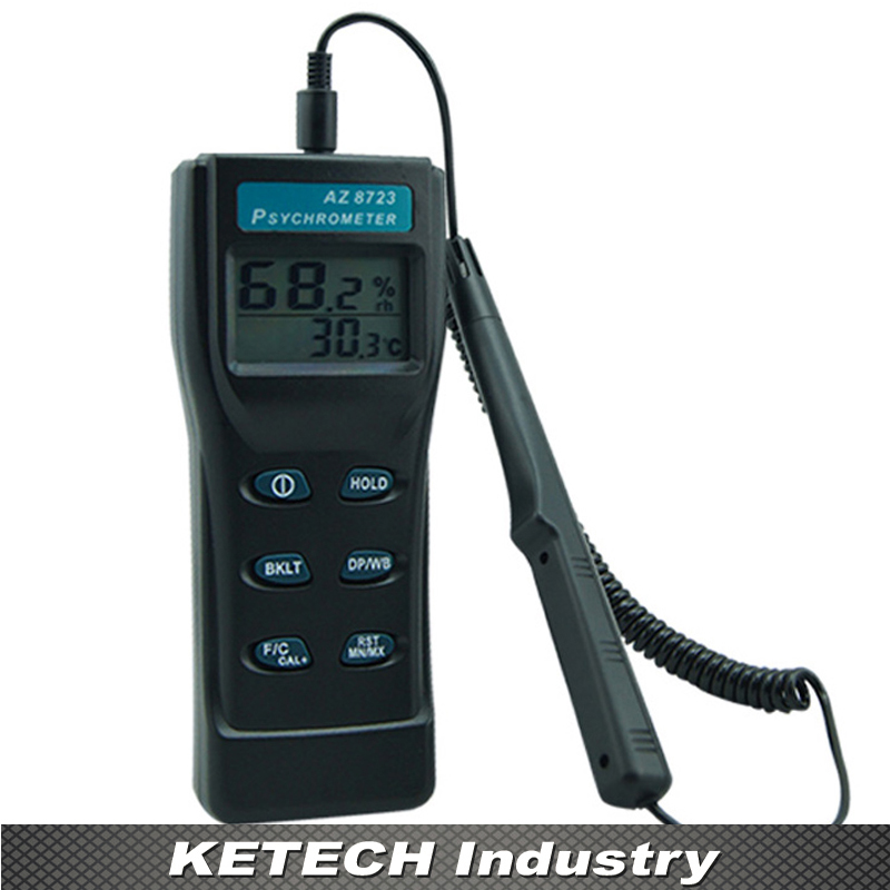 Dew Point Meter Thermometer with Hygro-thermometer Remote Probe AZ-8723 remote bimetal thermometer with capillary dial 3