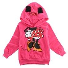 Baby Girls Boys Kids 3D Mickey Minnie Mouse High Quality Long Sleeve Hoodies Sweatshirt T-shirt Top 1-6Y